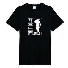 Tshirt Men Eat Sleep Battlefield 4 Funny T Shirt Sunlight Fit T-Shirt Men Short Sleeve Tops Tee Gildan(China)
