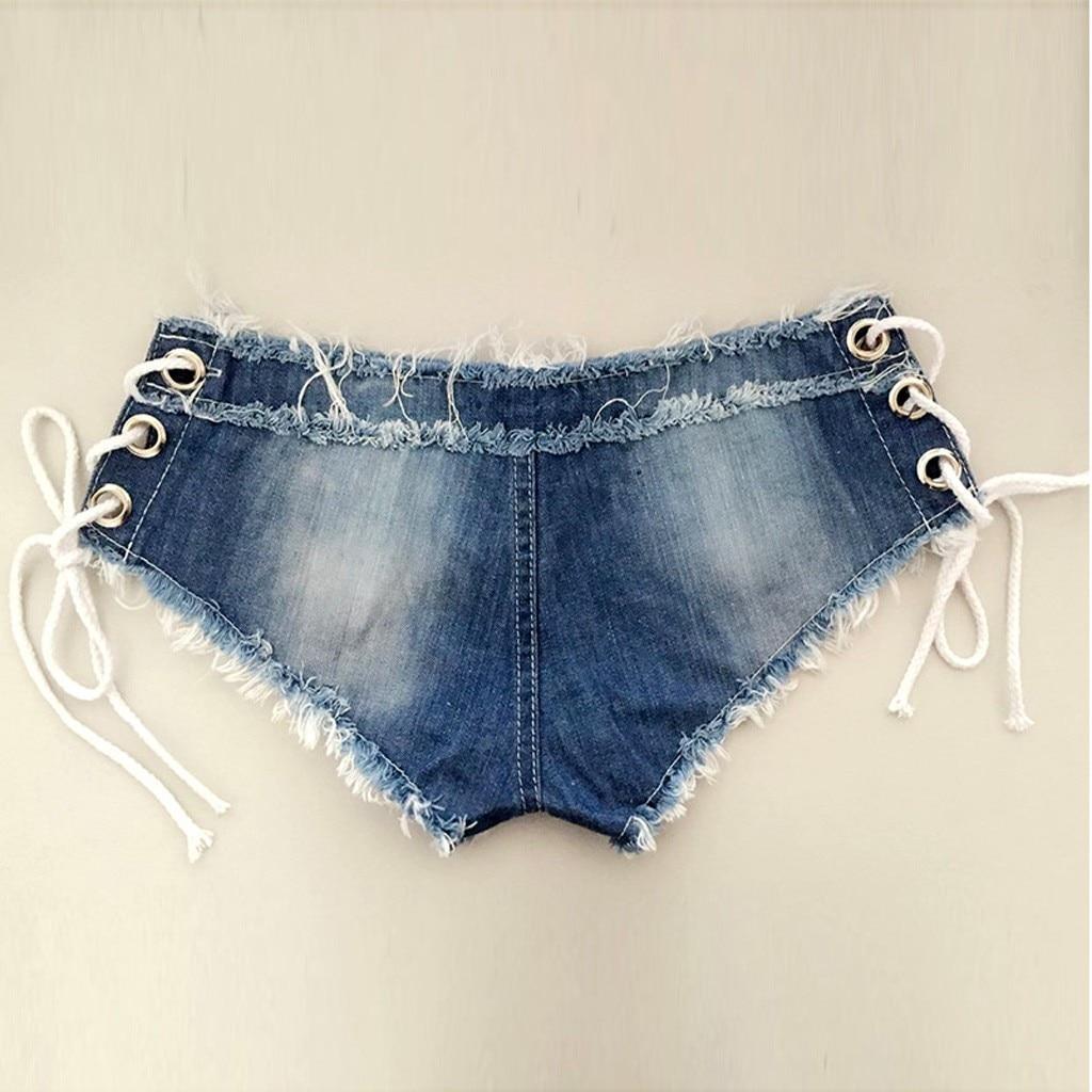 H2a1ada2fe78f475e8d1d0d4fbee1a4ceW 2019 womens skinny jeans Sexy high quality straight leg casual Bandage Button Denim Jeans Shorts Mini Hot Pants Elastic 19JUL26