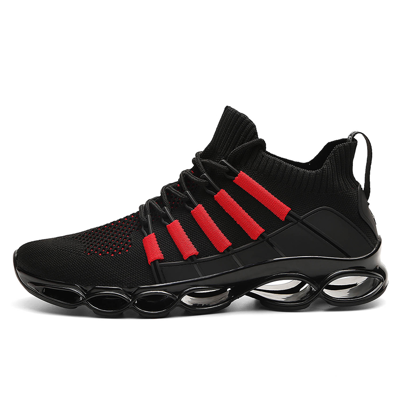 Shoes Men Sneakers New Fishbone Blade Shoes For Men Big Size 39-47# Comfortable Men's Casual Red Bottom Shoes Chaussure Homme