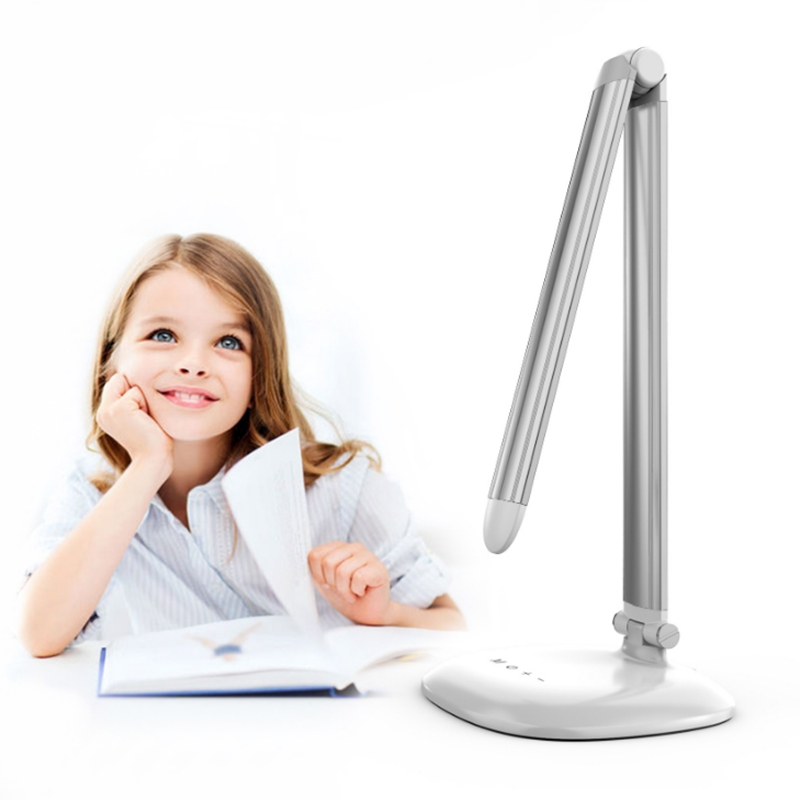 LED Lâmpada de Leitura de Mesa Regulável, 3-cores do Cuidado do Olho Ajustável Dobrável Flexível Iluminação interior Lâmpada Noite