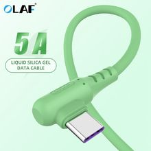 Olaf 5A Liquid USB Type C Cable USB-C Mobile Phone Fast Charging USB Charger Cable for Samsung Galaxy S9 Huawei Xiaomi USB-C