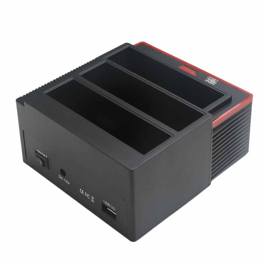 "USB 3.0 إلى 2.5 ""3.5"" SATA IDE قرص صلب محرك 3 فتحات HDD استنساخ محطة الإرساء USB HUB 2 تيرا بايت 893U3ISC متعددة الأغراض HDD لرسو السفن"
