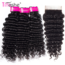 Tinashe Hair Closure Weave Bundles Remy with Brazilian-Hair