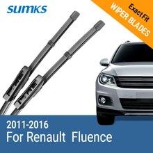 """SUMKS lames dessuie glace pour Renault Fluence 24 et 16 """", pour bras baïonnette 2011, 2012, 2013, 2014, 2015"""
