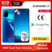 Nowy ELEPHONE U5 4GB 128GB Smartphone 48MP Quad tylne kamery 6 4 #8221 FHD + ekran Helio P60 Octa Core 4000mAh Android 10 0 NFC tanie tanio Nie odpinany CN (pochodzenie) Rozpoznawania linii papilarnych Inne Nonsupport Smartfony Bluetooth 5 0 Pojemnościowy ekran