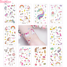Staraise 1pc Disposable Tattoo Sticker Unicorn Party Decor Baby Birthday Favors Temporary Supplies