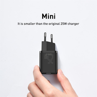 Baseus USB C Charger 25W Support Type C PD Fast Charging Portable Phone Charger For Samsung S20 S21 Ultra Xiaomi 10 Pro Tablet