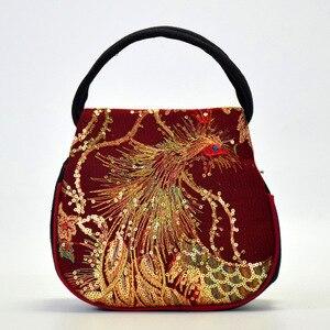 Image 5 - ร้อนขายชาติพันธุ์เย็บปักถักร้อยกระเป๋าปักปักนกยูง MINI กระเป๋าถือผู้หญิงจัดส่งฟรีกระเป๋าถือ