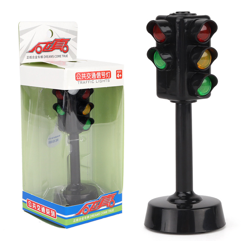 Children Simulated Traffic Light Model With Sound And Music Motor Vehicle Traffic Sign Toy Transportation Safty Early Education