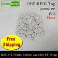 RFID wäsche taste tag wasser wider UHF EPC Gen2 6C 915mhz 868mhz Higgs3 50 stücke freies verschiffen smart passive RFID PPS tags
