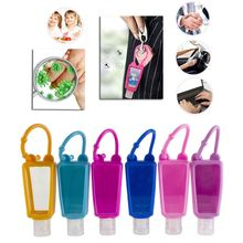 Empty-Keychain-Carrier Hand-Sanitizer Container Bottles 5pcs 30ml Refillable Silicone