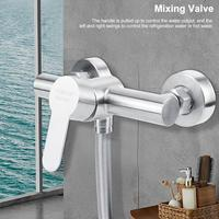 304 Stainless Steel Shower Faucets Bathroom Shower Hot Cold Water Tap G1/2in Bathing Faucet Mixer