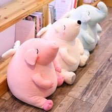 50cm Cute Angel wings Fat Pig Elephant Polar bear Plush Toys Soft Stuffed Animal Dolls Pillows Baby Kids girl Birthday Gift(China)