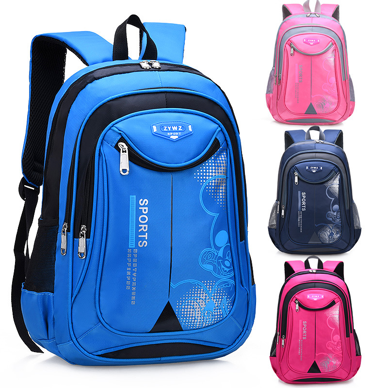 Water Resistant Men's 1-3-6 Grade Girls Schoolbag For Elementary School Students Unisex Children 6-12-Year-Old Spine-Non-Backpac