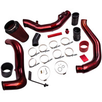 Red Turbo Intercooler Pipe & Cold Air Intake Kit for Ford F350 6.0L 2003 2007