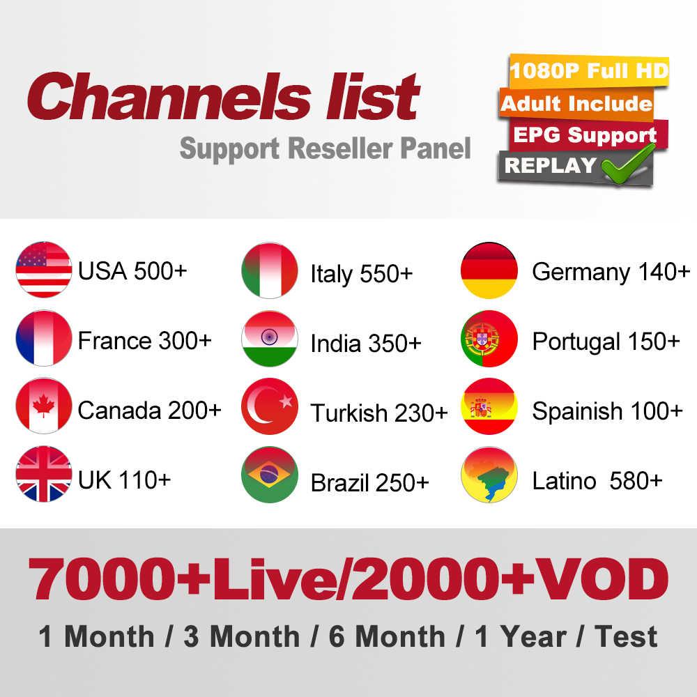 Canada IPTV M3U IPTV 7000 + chaînes HD en direct pour M3u Mag Box Smart Tv Iptv M3U Code sport adultes Test gratuit abonnement Iptv