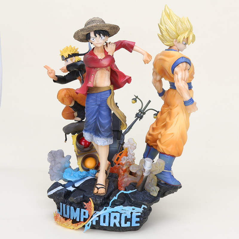 26cm Jump Force Dragon Ball Z Goku <font><b>ONE</b></font> <font><b>PIECE</b></font> <font><b>Luffy</b></font> Uzumaki Naruto Anime PVC Action Figure Collectible Model Doll Toy gifts image