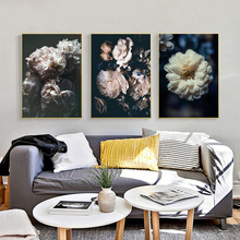 Nordic Style Flower Wall Art Canvas Painting Home Decor Living Room Decoration Poster Picture Print nordic art elephant walking moment abstract fashion style canvas painting art print poster picture wall living room home decor