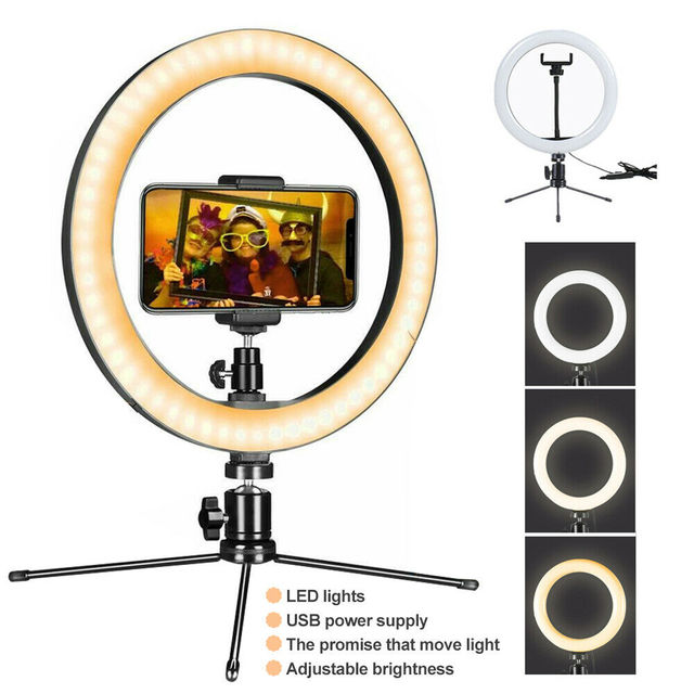 M16 360 دوران LED USB تهمة LED Selfie الدائري ضوء عكس الضوء