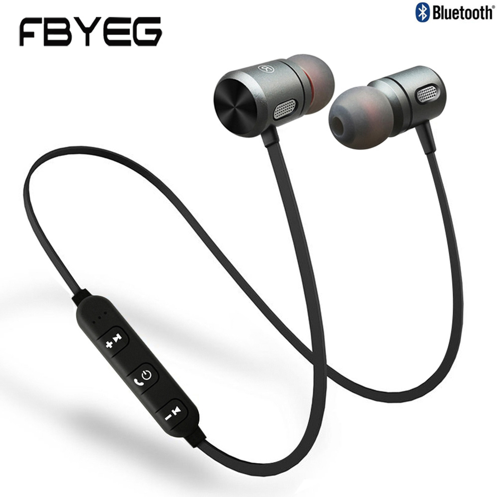 FBYEG C10 Magnetic Bluetooth Earphone Waterproof Wireless Headphones Sport Bluetooth Headset Earpiece With Microphone For Phone