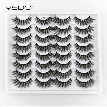 YSDO 3/5/16Pairs Eyelashes Natural Long Mink Eyelashes Fluffy 3d Mink Lashes Thick False Lashes Makeup Fake Eyelashes Extensions 1