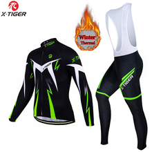 X-TIGER Winter Thermal Fleece Cycling Sets Maillot Ropa Ciclismo Keep Warm MTB Bike Wear Bicycle Clothing Cycling Jerseys Set