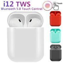 New i12 TWS wireless headphones bluetooth 5.0 mini earphone Earbuds sport Music Headset pk i10 i20 i30 for iPhone xiaomi