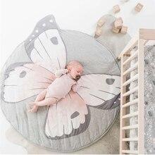 Boże narodzenie Ins Lion Butterfly koc nadruk zwierzęta indeksowanie mata podłogowa gra dywan dekoracja pokoju dziecięcego prezent