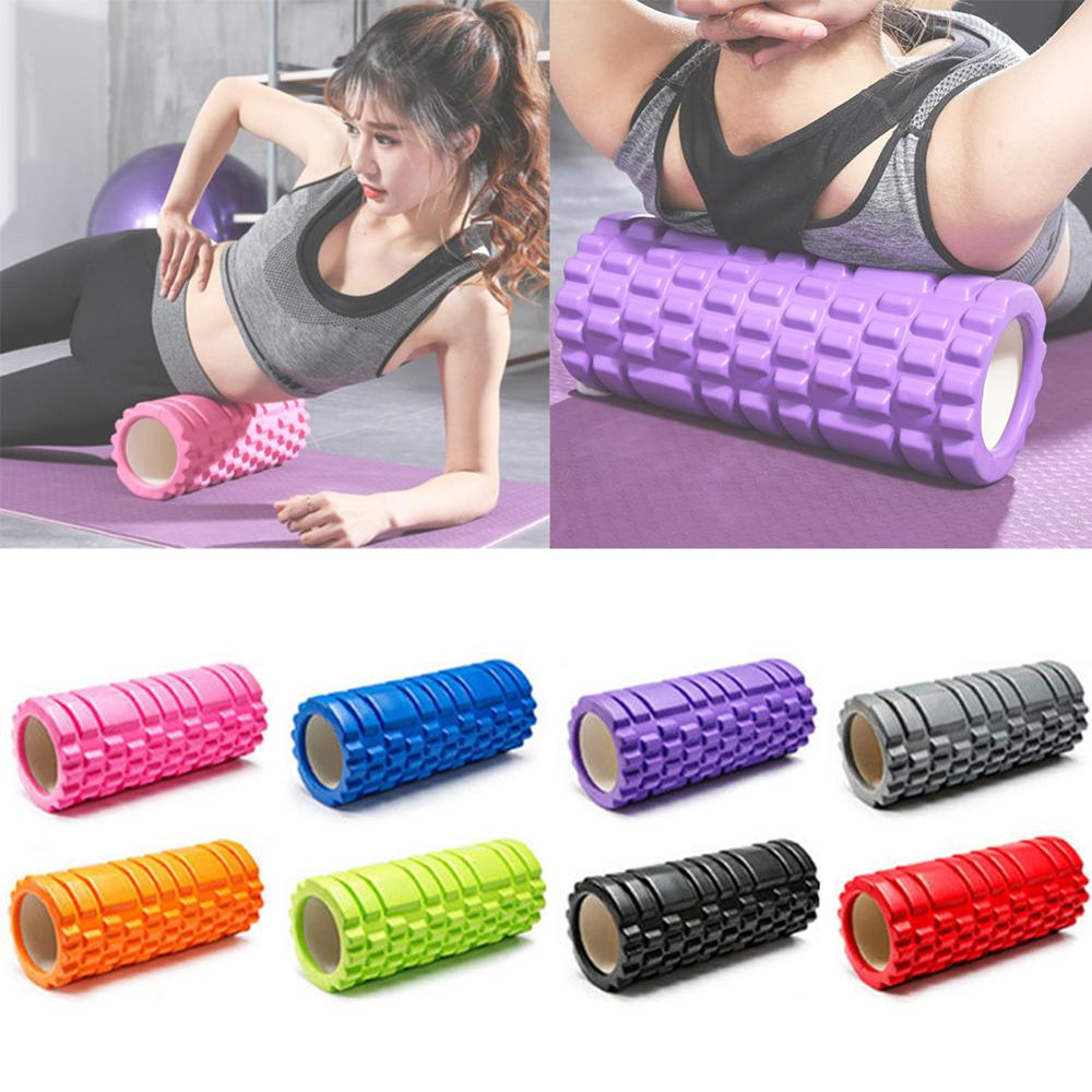 EVA Hollow Yoga Column Fitness Pilates Yoga Foam Roller Blocks Train Gym Massage Grid Trigger Point Therapy Physio Exercise 2020