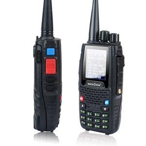 Image 2 - رباعية الفرقة اسلكية تخاطب UHF VHF 136 147Mhz 400 470mhz 220 270mhz 350 390mhz 4 الفرقة يده اتجاهين راديو هام جهاز الإرسال والاستقبال KT 8R