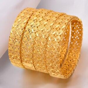Image 1 - Wando Große Grand luxe Öffnen Armbänder & Armreifen für Frauen/Mädchen Dubai Frankreich Hochzeit Armreifen Armband Nahen Osten schmuck geschenk