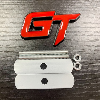 Car Styling 3D Metal GT Emblem Car Front Grille Badge Decal Stickers Accessories For Ford KIA Honda Auto Accessories image