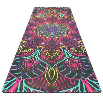 1830 610 1mm yoga mat fitness rubber pad foldable ultra thin non slip portable yoga blankets suede mat towel Nice printing yoga fitness mat suede rubber non-slip health yoga flower mat factory outlet practice mat with ncie design