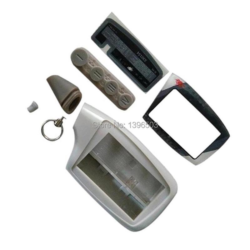 Body Case Keychain For Russian Scher-Khan Magicar 5 6 2-Way Car Alarm LCD Remote Control Scher Khan M902F M903F Key Chain Fob