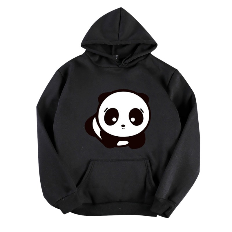 Autumn Winter New Cartoon Panda Print Thick Hoodie Fashion Cute Long-sleeved Hooded Sweatshirt For Women 6 Color