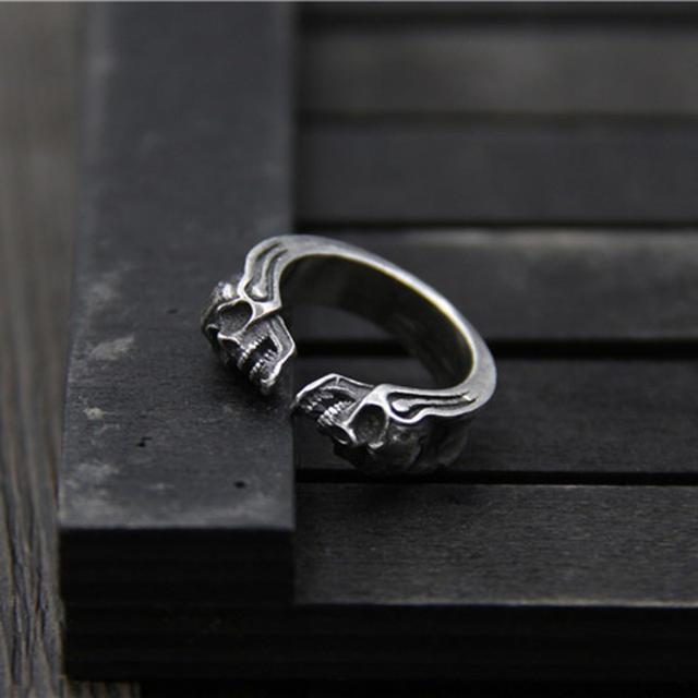 925纯银复古骷髅戒指