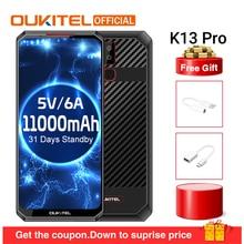 "OUKITEL K13 Pro Android 9,0 мобильный телефон 6,4"" 19,5: 9 экран MT6762 4G ram 64G rom 5 V/6A 11000mAh OTA NFC отпечаток пальца смартфон"