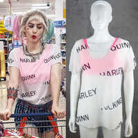 Harley Quinn T-Shirt Vögel Von Beute Cosplay Frauen T Shirt Kostüm Suicide Squad Joker Halloween Party Kostüme Requisiten