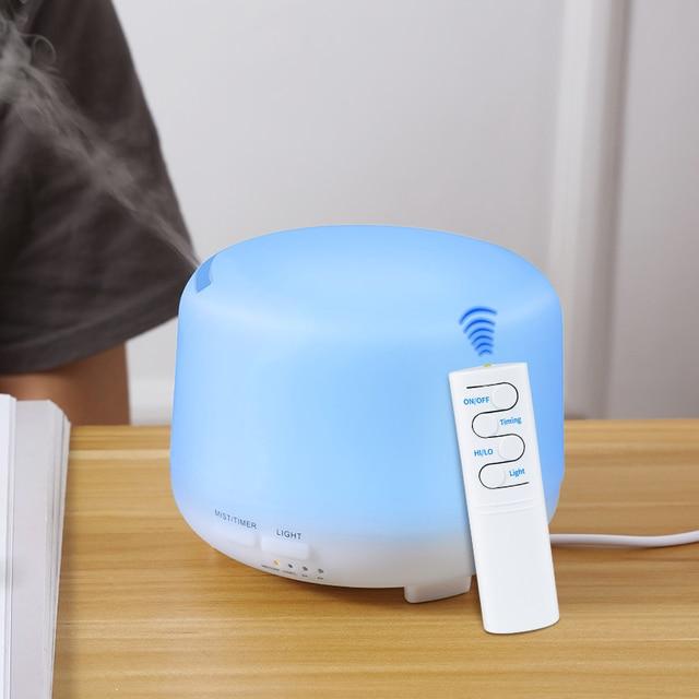 300ML Ultrasonic Aromatherapy Humidifier Essential Diffuser น้ำมันเครื่องฟอกอากาศสำหรับ Home Mist Maker Aroma Diffuser Fogger LED LIGHT