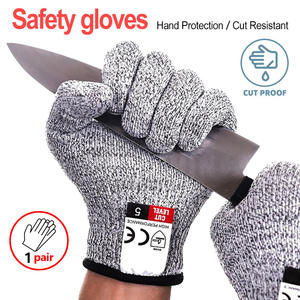 Anti-Cut Gloves Wire Mesh Cut-Proof Butcher Stab-Resistant Stainless-Steel Metal Multi-Function