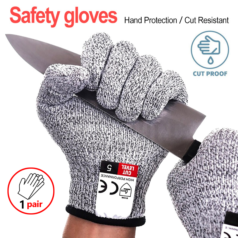 1 Pair Of Metal Mesh Butcher Anti-Cutting Protective Glove Stainless Work Ke