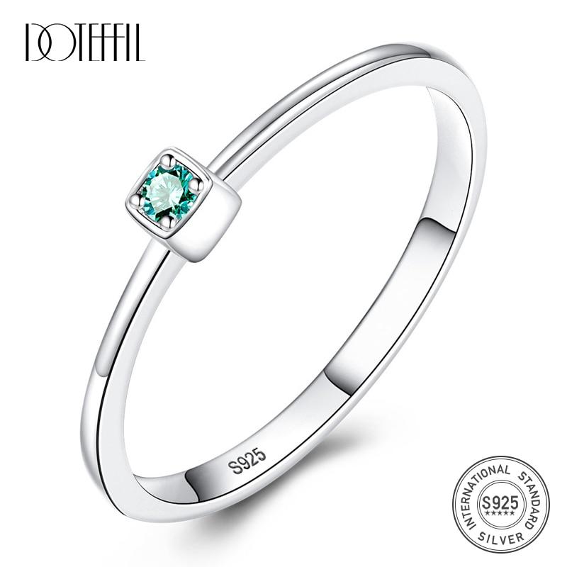 100/% Véritable Argent Sterling 925 Bijoux zircon Bagues Pour Femme Mariage Fête Cadeau