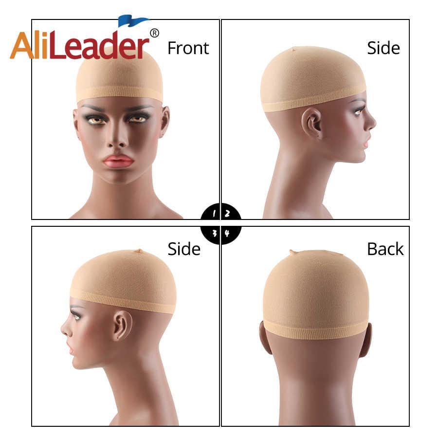 Alileader venda superior 2 unidades/pacote tampão da peruca da malha do cabelo 4 cores confortáveis bonés stretchable da peruca do monofilamento para fazer o tamanho livre da peruca