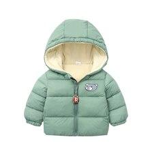 Jackets Coats Clothing Outerwear Hooded Baby-Girls Boys Winter Kids Cartoon Children