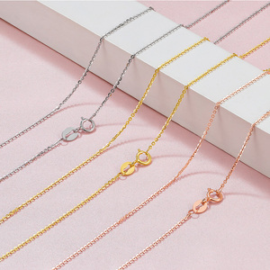 Image 2 - FENASY Genuine 18K White Yellow Gold Chain 18 Inches Au750 Cost Price Necklace Pendant Wendding Party Gift For Women Love