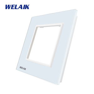 Image 2 - WELAIK EU Wall Switch DIY Parts Glass Panel Only Wall Light Switch Crystal Glass Panel Square hole  A18W/B1