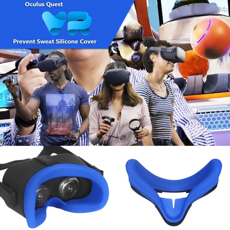 Soft Anti-sweat Silicone Eye Mask Case Cover Skin For Oculus Quest VR Glasses