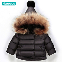 Medoboo Winter Baby Girls Clothes for Boys Thick Warm Faux Fur Baby Hooded Jacket Coat Tops Outerwear Snowsuit Suit Overalls baby girls clothes 2019 new winter fur lattice long wool coat warm jacket snowsuit girl coats button hooded jacket outerwear