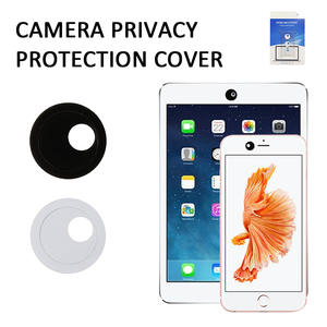 Camera-Lens Webcam Mobile-Phone-Protectors Rotation iPhone Huawei Xiaomi Round for Cap-Sticker