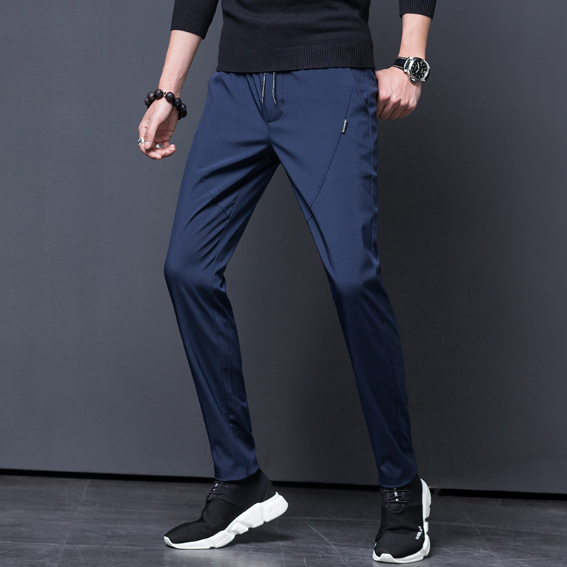 Trousers Men's Fashion Slim Sports Pants Elastic Spring Slim Tight Pants Casual Pants Men Mens Joggers Cargo